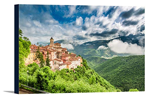 Umbria, Italy - Small Town - Scenic View 9025156 (24x13 1/2 Gallery Wrapped Stretched Canvas)