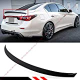 Cuztom Tuning Fits for 2014-2019 Infiniti Q50 JDM EAU Style Painted Gloss Black Trunk Lid Spoiler Wing