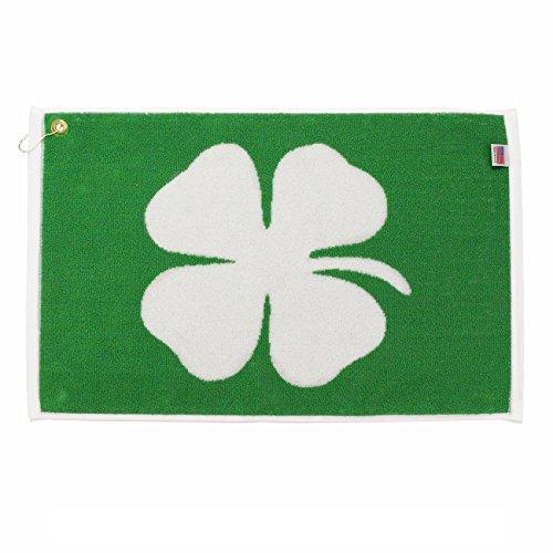 Player Supreme Lucky Four Leaf Clover (Shamrock) Golf Towel (16' x 24')