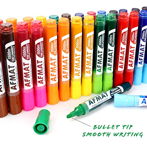 Dry Erase Markers Low-Odor, Dry Erase Whiteboard Markers, Fine Tip, 60 Pack, 12 Assorted Colors, 4 Times Longer Lifespan than Other Brands, 1500 Meters Super Long Writing Distance, Perfect for Class Photo #5