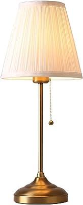 デスクライト テーブルランプの寝室ヨーロッパクリエイティブシンプルでモダンなレトロな結婚式のアメリカの暖かい小さなベッドサイドのランプ (Design : Button)