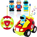 Liberty Imports My First Cartoon RC Race Car Radio Remote Control Toy for Baby, Toddlers, Children