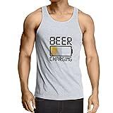 lepni.me Camisetas de Tirantes para Hombre Necesito más Cerveza, Regalos para los Amantes de la Cerveza (XXX-Large Blanco Multicolor)