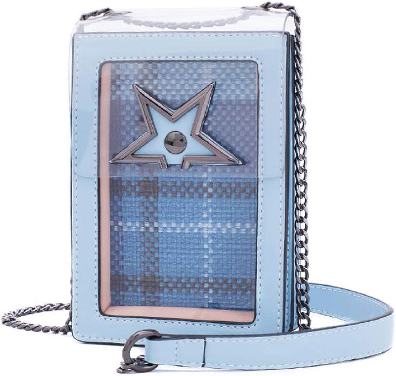 Frauen Umhängetasche Mode Einfache Kette Tasche Wilde Messenger Bag Bag Bag Casual Damen Handytasche Shopping Party (Farbe   Blau, größe   12  6  18cm) B07MN2LHR8  Direktgeschäft 070394