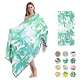 Beach Towels Oversized Microfiber Bath Towels, Big Beach Towel That's Sand Free and Quick Dry, Travel Accessories Gifts, Cute Beach Towel for Women, Cool Beach Towels for Men, Large Towels for Adults