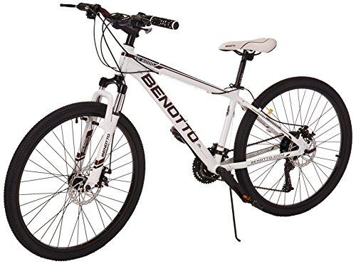 Benotto XC-6000 Bicicleta de Aluminio, Frenos DDM, color Blanco/Negro, Medio
