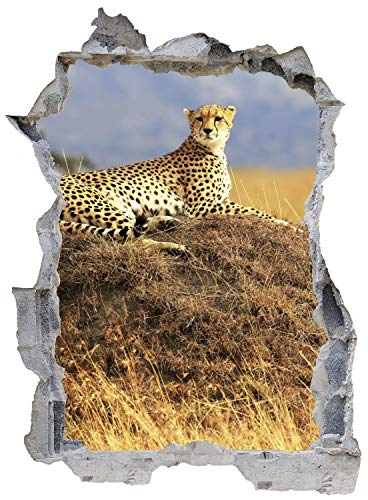 Leopard Afrika Safari Wild Wandtattoo Wandsticker Wandaufkleber E0290 Größe 46 cm x 62 cm