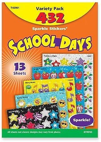 las mejores marcas venden barato Trend Enterprises Enterprises Enterprises 63901 School Days Stickers, Acid-free, Nontoxic, 432 Stickers by Trend Enterprises Inc  precio razonable