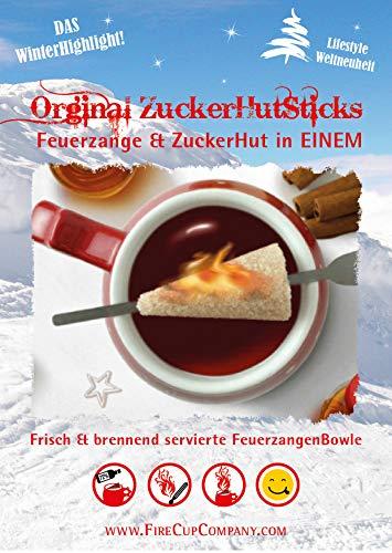 ORIGINAL FEUER ZANGEN TASSE FeuerzangenTassen - ZuckerHutSticks & FeuerzangenRum - Für 6 Personen.