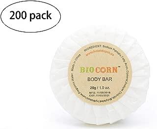 BIO CORN Bar Soap, Travel Size Hotel Amenities, 1.0oz/28g (Pack of 200)