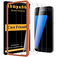 [3 Pack] UniqueMe protector de pantalla para Samsung Galaxy S7,[9H Dureza] [HD Film] [Anti-mancha]Cristal Vidrio Templado Premium para Samsung Galaxy S7