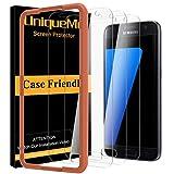 UniqueMe [3Pack Schutzfolie für Samsung Galaxy S7 Panzerglas, Samsung Galaxy S7 Folie, HD klar gehärtetes Glas Bildschirmschutz Anti Kratzen Bildschirmschutzfolie