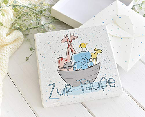 Deingastgeschenk Geldgeschenk Taufe Arche Noah - Glückwunschkarte - Geldverpackung für Junge
