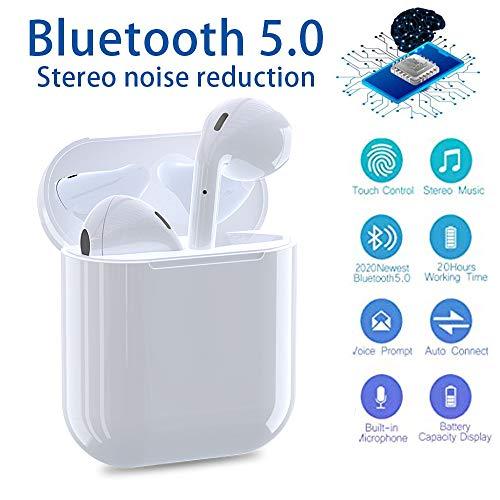 Auricolare Bluetooth Senza Fili, Cuffie Wireless Stereo 3D with IPX7 Impermeabile, Accoppiamento Automatico Per Chiamate Binaurali, Adatto Compatibile