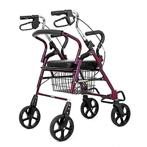 GAOFQ Chariot de Chariot Pliant, Voiture de Stockage Pliante surdimensionnée de Zone d'outil capacité 130Kg pour Les Personnes âgées, Caddie, Chariot, remorque Pliante, Chariot