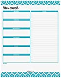 Weekly Planner Pad by Julianne & Co - Premium Weekday & Weekend Task Organizer, Undated Appointment & to-Do Tear-Away Notepad, Organize & Plan Chores & Meetings - 8.5'x 11' - 52 Sheets Lasts 1 Year