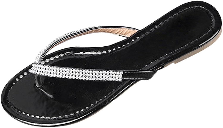 Dear Time Flip Flop Bling Rhinestones Summer Women Flat Thong Sandals