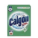 Calgon Hygiene+ Tabs – Schutz vor Kalkablagerungen und Schmutz – Wasserenthärter mit Hygieneschutz für die Waschmaschine – 1 x 36 Tabs