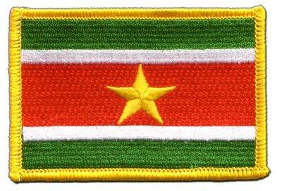 Flaggenfritze Flaggen Aufnäher Surinam Fahne Patch + gratis Aufkleber