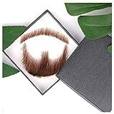 JINSUO NWXZU Falso Pizzo Barba Fatta a Mano da Veri Capelli for l'Uomo Barba Baffi Fancy Pizzo Sintetico Invisibile Mustachio (Color : 3)
