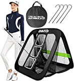 BAYINBULAK 2 in 1 Golf Practice Net for Garden Driving 2.5'×2.5' Chipping Game Accessories Men Gift