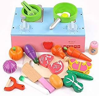 Play Food, Wooden Food Kids Play Food, Cooking Toys Pretend Play Food for Pretend Role Playing Christmas Christmas Gifts p...