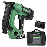 Metabo HPT Cordless Brad Nailer Kit   Unique Air Spring Drive System   18V Brushless Motor   18 Gauge   5/8' to 2' Brad Nails   Compact 3.0 Ah Lithium Ion Battery   Lifetime Tool Warranty (NT1850DES)