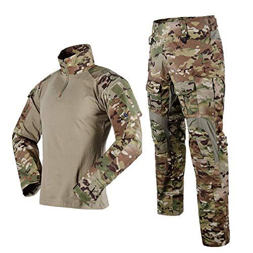 SINAIRSOFT Tactical Combat Pants Shirt US Army Military Paintball BDU Gen3 Uniform Rapid Assault Sleeve Slim Fit Long Sleeve Top Uniform