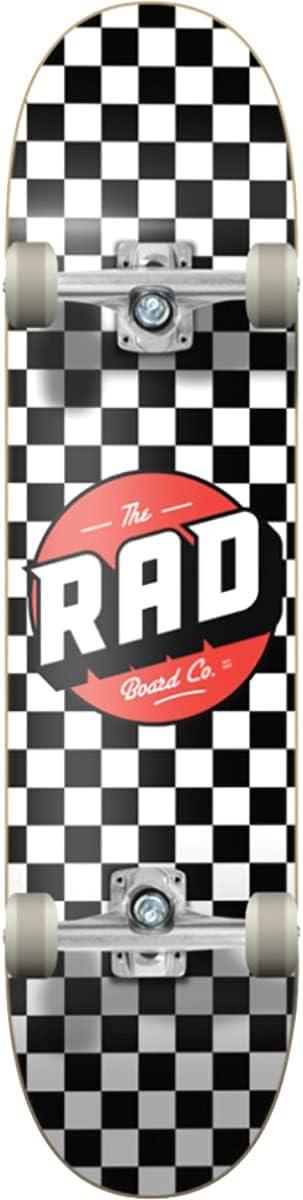 RAD Wheels Checker Max 63% OFF White Super-cheap Black w Complete Red x - 8