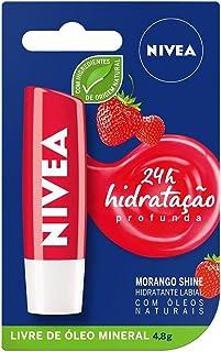 Protetor Labial Nivea Morango Shine 4, 8G, Nivea, Morango
