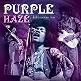 Jimi Hendrix - Purple Haze 2020 12 x 12 Inch Monthly Square Wall Calendar by Global, Psychedelic Rock Music Guitar Celebrity