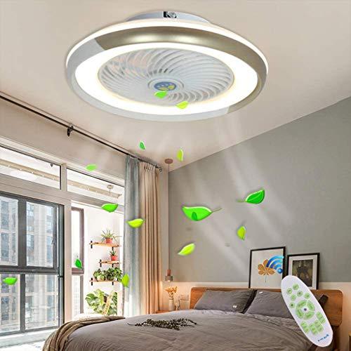 LED Fan Deckenleuchte Kreative Moderne Deckenlamp Dimmbar Deckenventilator Mit Beleuchtung Und Fernbedienung Leise Schlafzimmer Wohnzimmer Landhaus Kücheleuchte Badezimmer Decke Hängelampe,Gold