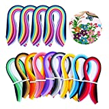 Quilling Strips,Quilling Paper Set Total 1940 Strips (9 Kinds Gradient Colors 900 Strips and 26 Colors 4 Kinds of Width Paper 3/5/7/10mm 1040 Strips)