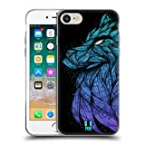 Head Case Designs Lobo Arte de línea Carcasa de Gel de Silicona Compatible con Apple iPhone 7 / iPhone 8 / iPhone SE 2020