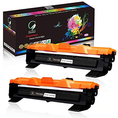 Gootior TN1050 TN-1050 Toner, 2 Nero Compatibile per Brother HL-1210W HL-1212W HL-1110 HL-1112 DCP-1510 DCP-1512 DCP-1610W DCP-1612W MFC-1810 MFC-1910W (2000 pagine)