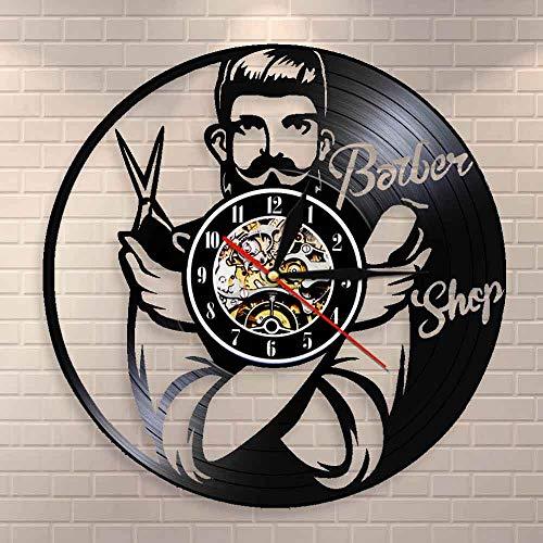 DJDLNK schoonheidsspecialiste wandklok wooncultuur kapper schaar barbershop geschenk voor kapper Met led.