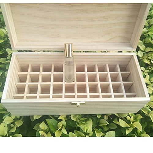KX-YF Aceites perfumados Caso 40 Ranura de Madera Caja de Almacenamiento de aceites Esenciales posee el 40 Aceites 10ml Botella for Las Mujeres Aceites Esenciales Caja de Almacenamiento de Viaje