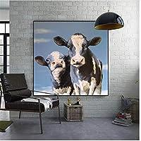 写真リビングルームの壁画装飾ポスター家の装飾絵画キャンバスに印刷30x30cmフレームなし