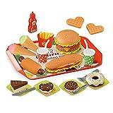 A-A Kinder Küchenspielzeug, DIY Hamburger EIS Lebensmittel Spielzeug Set, Kinderküche Rollenspiele Pädagogisches Lernen Spielzeug, Geschenk Für Jungen Und Mädchen