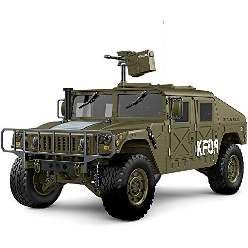 TWIN-HORSE HG P408 1/10 2.4G 4WD 16CH RC Car US 4X4 Military Truck Model Vehicle Hummer