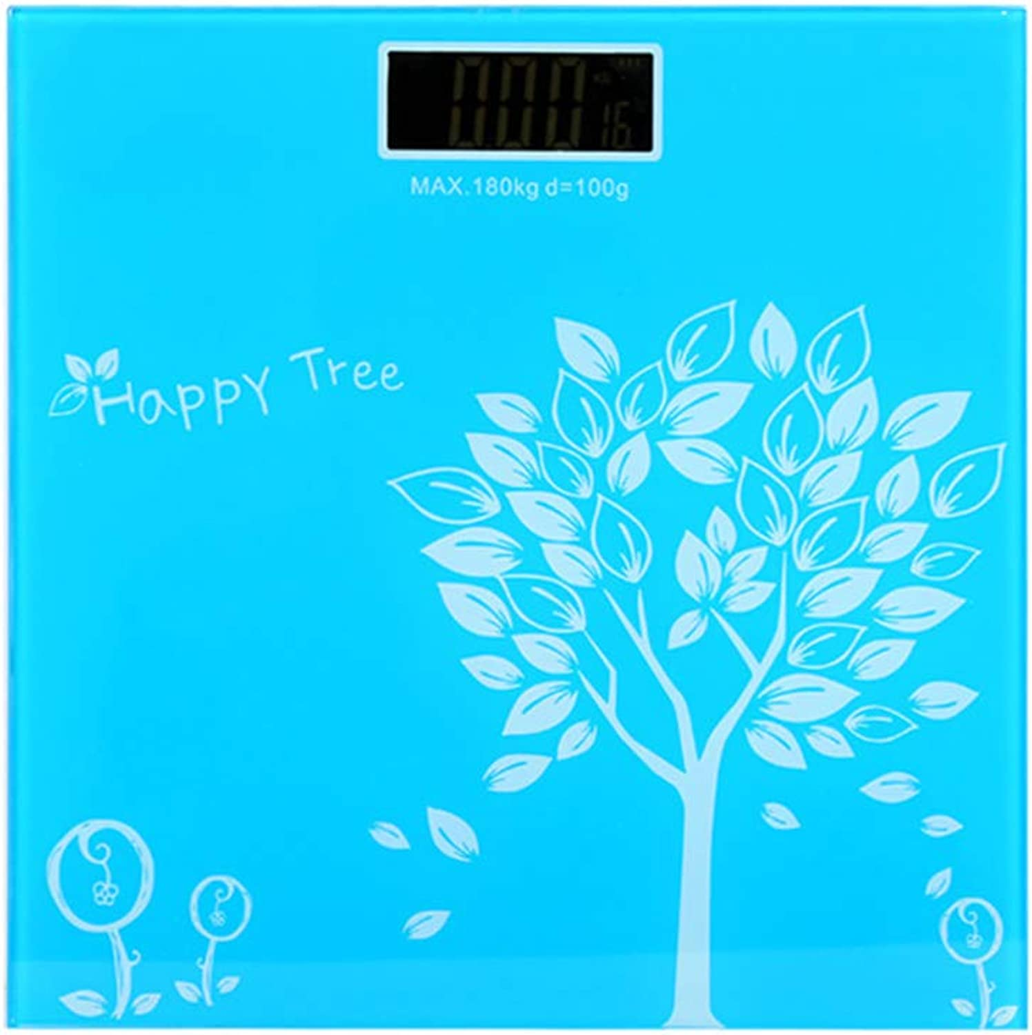 Electronic Bathroom Scales, Toughened Glass Measure Weight Metric