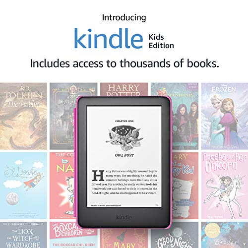 Kindle Kids Edition, a Kindle designed for kids, with parental controls - Pink Cover