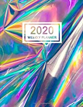 2020 Weekly Planner: January 2020 to December 2020 Weekly and Monthly Planner with One Year Daily Agenda Calendar, 12 Month Holographic Organizer with ... Quotes, Holidays, Notes & Vision Board