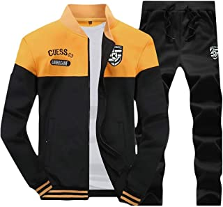FSSE Men Sweatsuits Jacket Pants Running Sport 2 Pieces Outfits Tracksuits