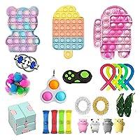 フィジットのおもちゃのパック、ポップバブル安い感覚の指のおもちゃのおもちゃセットストレスリリーフのおもちゃ子供アダルトのための大理石のメッシュポップ不安チューブ (Color : Fidget Toy-7)