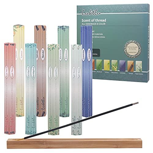 Incense Gift Pack Set,160 Sticks Total, Lavender,Patchouli,sandalwood,Osmanthus,Lemon scent,vanilla,Night lavender,Sandalwood fans