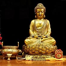 Kaiguang Pure Copper Big Day Like Buddha Shakyamuni Buddha Shakyamuni Small Buddha Statue Decoration Buddha Statue Home Wo...