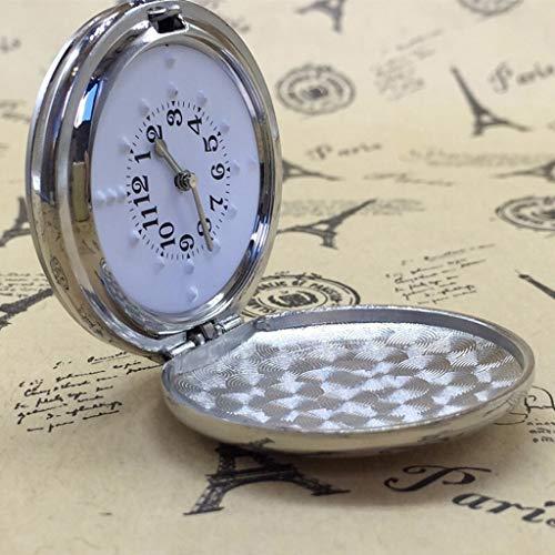 Reloj de Bolsillo Cegar reloj de bolsillo plegable toque de reloj de cuarzo de la vendimia de bolsillo del cuarzo, los números árabes Escala for hombre del reloj for mujer Reloj de Bolsillo Vintage