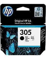 HP 305 3YM61AE, Negro, Cartucho Original de Tinta, Compatible con impresoras de inyección de Tinta HP DeskJet Serie 2700, 4100, Envy Serie 6020, 6030, 6420, 6430