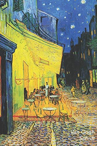 Van Gogh Schrift: Caféterras bij Nacht in Arles   Trendy & Hip Notitieboek   Ideaal Voor School,...